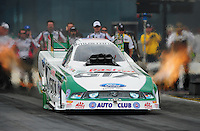 Sept. 18, 2011; Concord, NC, USA: NHRA funny car driver Mike Neff during the O'Reilly Auto Parts Nationals at zMax Dragway. Mandatory Credit: Mark J. Rebilas-