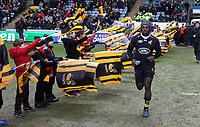 Photo: Richard Lane/Richard Lane Photography. Wasps v Ulster Rugby.  European Rugby Champions Cup. 21/01/2018. Wasps' Christian Wade runs out.