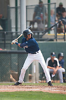 Helena Brewers infielder Luis Avila (13) at bat during a Pioneer League game against the Grand Junction Rockies at Kindrick Legion Field on August 19, 2018 in Helena, Montana. The Grand Junction Rockies defeated the Helena Brewers by a score of 6-1. (Zachary Lucy/Four Seam Images)