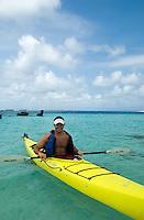 Sea kayaking, Achutupu, Comarca De Kuna Yala, San Blas Islands, Panama