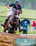 LEXINGTON, KY - APRIL 30: Kyle Carter, aboard Madison Park,  competes in the Cross Country Test for the Rolex Kentucky 3-Day Event at the Kentucky Horse Park on April 30, 2016 in Lexington, Kentucky. (photo by Scott Serio/Eclipse Sportswire/Getty Images)