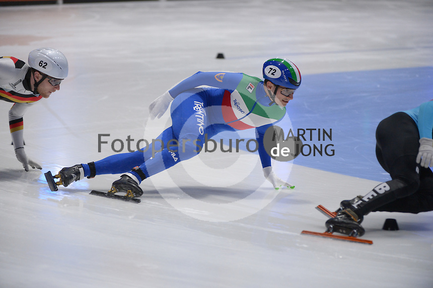 SPEEDSKATING: DORDRECHT: 07-03-2021, ISU World Short Track Speedskating Championships, QF 1000m Men, Luca Spechenhauser (ITA), ©photo Martin de Jong
