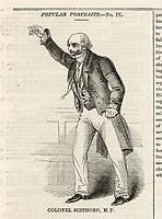 colonel Charles de Laet Waldo  eccentric member of parliament / Illustrated London News 1 July 1842 page 141 / CIRCA 1783-1855