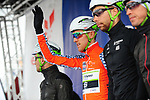 Salmon Jersey Sindre Skjostad Lunke and Team Fortuneo-Samsic at sign on before the start of Stage 4 of the 2018 Artic Race of Norway, running 145.5km from Kvalsund to Alta, Norway. 18th August 2018. <br /> <br /> Picture: ASO/Gautier Demouveaux | Cyclefile<br /> All photos usage must carry mandatory copyright credit (© Cyclefile | ASO/Gautier Demouveaux)