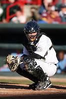 May 29th 2008:  Max St. Pierre of the Erie Seawolves, Class-AA affiliate of the Detroit Tigers, during a game at Jerry Uht Park in Erie, PA.  Photo by:  Mike Janes/Four Seam Images