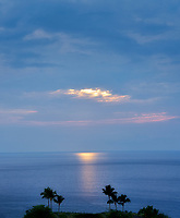 Sunset off the coat of Hawaii, The Big Island