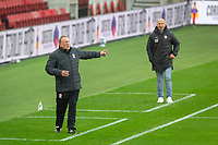 3rd October 2020; Riverside Stadium, Middlesbrough, Cleveland, England; English Football League Championship Football, Middlesbrough versus Barnsley; Middlesbrough FC Manager Neil Warnock animated on the touch line