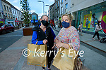 Kathleen Fitzgerald Ballyvenoirach, West of Dingle and Joan Ní Gearailt Feothanach West of Dingle shopping in Tralee on Tuesday morning.