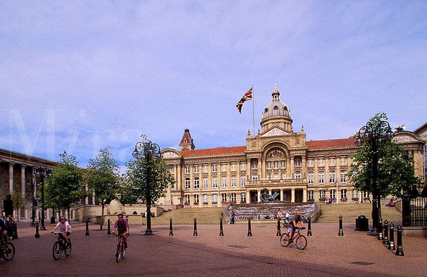 England. Birmingham.  The Council House, the city council chambers, the city government offices.  The Town Hall on the left..