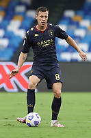 Lukas Lerager of Genoa CFC<br /> during the Serie A football match between SSC Napoli and Genoa CFC at stadio San Paolo in Napoli (Italy), September 27, 2020. <br /> Photo Cesare Purini / Insidefoto