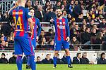 FC Barcelona's Javier Mascherano, Arda Turan  during Champions League match between Futbol Club Barcelona and VfL Borussia Mönchengladbach  at Camp Nou Stadium in Barcelona , Spain. December 06, 2016. (ALTERPHOTOS/Rodrigo Jimenez)