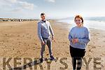 James Simmons from Aunascaul and Tara Kelly from Ballylongford taking a stroll on Inch Beach on Sunday.