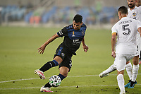 SAN JOSE, CA - SEPTEMBER 13: Andy Rios #25 of the San Jose Earthquakes during a game between Los Angeles Galaxy and San Jose Earthquakes at Earthquakes Stadium on September 13, 2020 in San Jose, California.