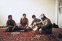 Iran 1984 .Hama Haji Mahmoud meeting some peshmergas in Ourmieh before his departure to Bradost.Iran 1984 .Halma Haji Mahmoud rencontrant des peshmergas a Ourmieh avant son depart pour Bradost