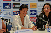 20150821 - GENT, BELGIUM: Gent's Stephanie D'Hose ,  Meter AA Gent Ladies , pictured during a press conference about the start of the new Super League season of the women's team KAA Gent Ladies , Friday 21 August 2015 , in Gent. PHOTO DAVID CATRY