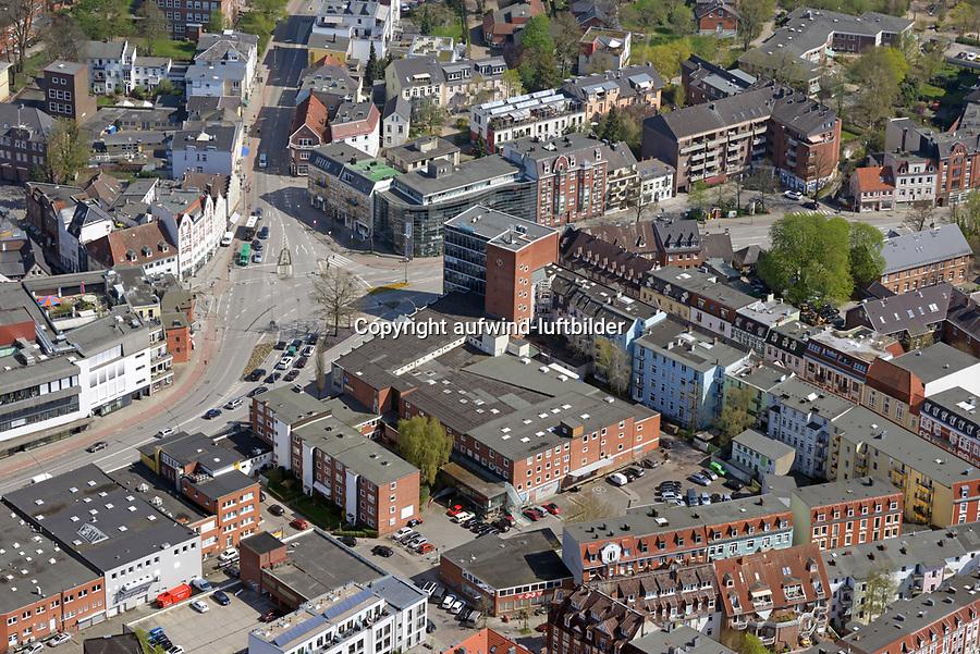 Glunz: EUROPA, DEUTSCHLAND, HAMBURG, (EUROPE, GERMANY), 19.04.2018: Glunz Gebäude vor dem Abriss
