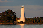 The Saint Marks Lighthouse in Wakulla County in the Florida panhandle along the Forgotten Coast.