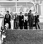 Beatles 1967 Magical Mystery Tour in Newquay, Cornwall. John Lennon, Ringo Starr, Mal Evans and Neil Aspinall