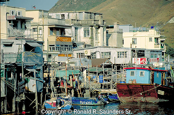 WOODEN STILT HOMES in FISHING VILLAGE (2)
