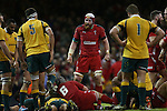 Wales lock Jake Ball.<br /> Dove Men Series 2014<br /> Wales v Australia<br /> Millennium Stadium<br /> 08.11.14<br /> ©Steve Pope-SPORTINGWALES