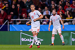 Thiago Alcantara of Spain looks to bring the ball down during the International Friendly 2018 match between Spain and Argentina at Wanda Metropolitano Stadium on 27 March 2018 in Madrid, Spain. Photo by Diego Souto / Power Sport Images