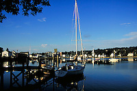 SAILBOATS, MYSTIC HARBOR , MYSTIC , CONNECTICUT. MYSTIC CONNECTICUT USA.