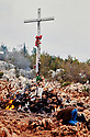 """Medjugorie in Bosnia. Our Lady of Medjugorje"""" is the title given to the apparition by those who believe that Mary, mother of Jesus, has been appearing from 24 June 1981 until today to six children, in Međugorje, then part of communist Yugoslavia, CREDIT Geraint Lewis"""