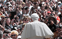Pope Benedict XVI during his weekly general audience in St. Peter square at the Vatican, Wednesday.6 june, 2012