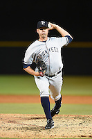 Tampa Yankees pitcher Tyler Webb (45) during a game against the Lakeland Flying Tigers on April 3, 2014 at Joker Marchant Stadium in Lakeland, Florida.  Tampa defeated Lakeland 4-0.  (Mike Janes/Four Seam Images)