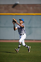 Robbie Tillman (10) of Columbus High School in Columbus, Georgia during the Baseball Factory All-America Pre-Season Tournament, powered by Under Armour, on January 13, 2018 at Sloan Park Complex in Mesa, Arizona.  (Mike Janes/Four Seam Images)