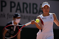 30th May 2021; Roland Garros, Paris, France; French Open Tennis championships, day 1;   Nao HIBINO of Japan plays a ball against Nina STOJANOBIV of Serbia