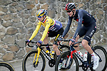 The peloton including Yellow Jersey Primoz Rogloc (SLO) Team Jumbo-Visma and Laurens De Plus Ineos Grenadiers (BEL) during Stage 5 of Paris-Nice 2021, running 200km from Vienne to Bollene, France. 11th March 2021.<br /> Picture: ASO/Fabien Boukla   Cyclefile<br /> <br /> All photos usage must carry mandatory copyright credit (© Cyclefile   ASO/Fabien Boukla)