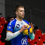 21.11.2020, Zeppelin CAT Halle A1, Friedrichshafen, GER, DVL, VfB Friedrichshafen vs Berlin Recycling Volleys,<br /> im Bild Martti Juhkami (Friedrichshafen, #6)<br /> <br /> Foto © nordphoto / Hafner