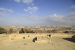 Jerusalem mountains, Nabi Samuel on Mount Shmuel, the northern area of the Crusader fortress