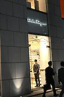Salvadore Fellagamo luxury store in store, Ginza, Tokyo Japan. April-2014