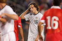 USA's Mixx Diskerud (16). US Men's National team played the National team of Chile to 1-1 draw at Home Depot Center stadium in Carson, California on Saturday January 22, 2010.