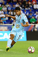 Harrison, NJ - Thursday Sept. 15, 2016: Mario Segovia during a CONCACAF Champions League match between the New York Red Bulls and Alianza FC at Red Bull Arena.