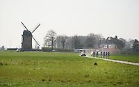 Team United Healthcare at the Templeuve (Moulin-de-Vertain) sector<br /> <br /> 2015 Paris-Roubaix recon
