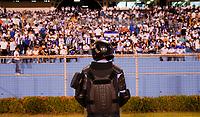 SAN PEDRO SULA, HONDURAS - SEPTEMBER 8: Security during a game between Honduras and USMNT at Estadio Olímpico Metropolitano on September 8, 2021 in San Pedro Sula, Honduras.