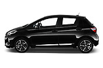 Car driver side profile view of a 2018 Toyota Yaris Lounge 5 Door Hatchback