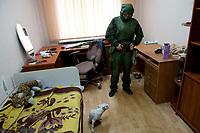 Tanya, Scharfschuetzin der pro-russischen Separatisten, Portrait, Donezk, Ukraine, 10.2014,   ***HIGHRES AUF ANFRAGE*** ***VOE NUR NACH RUECKSPRACHE***