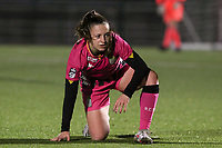 Chrystal Lermusiaux (2 Charleroi) on the ground during a female soccer game between Oud Heverlee Leuven and Sporting de Charleroi on the seventh matchday of the 2020 - 2021 season of Belgian Womens Super League , sunday 15 th of November 2020  in Heverlee , Belgium . PHOTO SPORTPIX.BE | SPP | SEVIL OKTEM