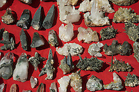 Minerals at a Market in Kathmandu the local use these as religious objects on their shrine at home or in Temples