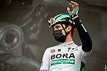 Maximilian Schachmann (GER) Bora-Hansgrohe at sign on before Stage 5 of Paris-Nice 2021, running 200km from Vienne to Bollene, France. 11th March 2021.<br /> Picture: ASO/Fabien Boukla   Cyclefile<br /> <br /> All photos usage must carry mandatory copyright credit (© Cyclefile   ASO/Fabien Boukla)
