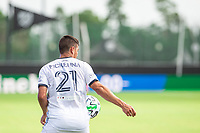 LAKE BUENA VISTA, FL - JULY 9: Anthony Fontana #21 of the Philadelphia Union running during a game between New York City FC and Philadelphia Union at Wide World of Sports on July 9, 2020 in Lake Buena Vista, Florida.