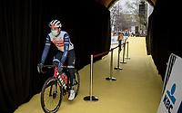 Mads Pedersen (DEN/Trek - Segafredo) at the race start in Antwerpen<br /> <br /> 105th Ronde van Vlaanderen 2021 (MEN1.UWT)<br /> <br /> 1 day race from Antwerp to Oudenaarde (BEL/264km) <br /> <br /> ©kramon