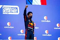 Podium, PEREZ Sergio (mex), Red Bull Racing Honda RB16B during the Formula 1 Azerbaijan Grand Prix 2021 from June 04 to 06, 2021 on the Baku City Circuit, in Baku, Azerbaijan -<br /> FORMULA 1 : Grand Prix Azerbaijan <br /> 06/06/2021 <br /> Photo DPPI/Panoramic/Insidefoto <br /> ITALY ONLY