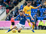 St Johnstone v Kilmarnock…31.08.19   McDiarmid Park   SPFL<br />Matty Kennedy is brought down by Mohammed El Makrini<br />Picture by Graeme Hart.<br />Copyright Perthshire Picture Agency<br />Tel: 01738 623350  Mobile: 07990 594431