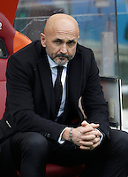Calcio, Serie A: Roma vs Hellas Verona. Roma, stadio Olimpico, 17 gennaio 2016.<br /> Roma's coach Luciano Spalletti arrives for the Italian Serie A football match between Roma and Hellas Verona at Rome's Olympic stadium, 17 January 2016.<br /> UPDATE IMAGES PRESS/Isabella Bonotto