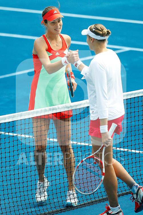 Nadia Petrova and Ana Ivanovc during Mutua Madrid Open 2012 match on may 8th 2012...Photo: Cesar Cebolla / ALFAQUI
